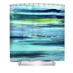 Driftwood Blue Shower Curtain