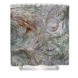 Driftwood Burl Shower Curtain