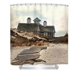 Shower Curtain featuring the photograph Driftwood by Robin-Lee Vieira