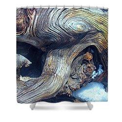 Driftwood Swirls Shower Curtain