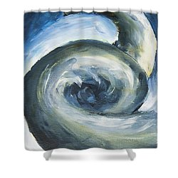 Shower Curtain featuring the painting Driftwood by Yulia Kazansky
