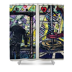 Drillers Love And Gimmicks Shower Curtain