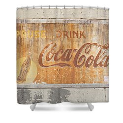 Shower Curtain featuring the photograph Drink Coca Cola by Mark Greenberg