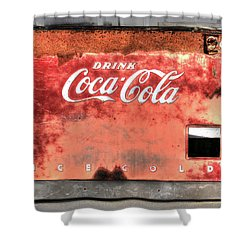 Drink Ice Cold Coca Cola Shower Curtain