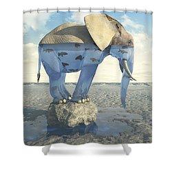 Drinking Problem Shower Curtain by Cynthia Decker