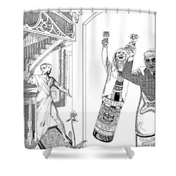 Drinks Shower Curtain by Stan  Magnan
