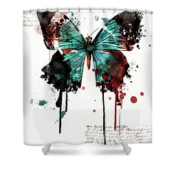 Dripping Butterfly Shower Curtain