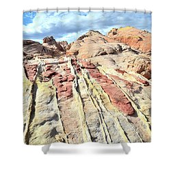 Dripping Color In Valley Of Fire Shower Curtain