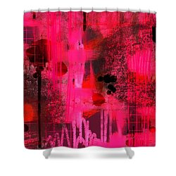 Dripping Pink Shower Curtain by Lisa Noneman