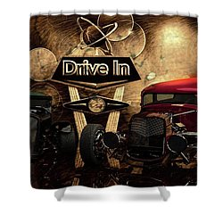 Shower Curtain featuring the photograph  Drive In by Louis Ferreira