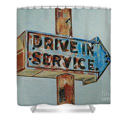 Drive In Service Shower Curtain