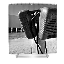Drive In Speakers Shower Curtain by David Lee Thompson