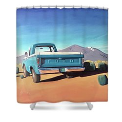 Drive Through The Sagebrush Shower Curtain