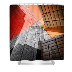 Driven To Abstraction Shower Curtain by Wayne Sherriff