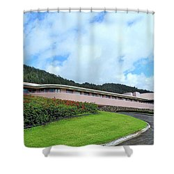 Driveway To K K Golf Club Shower Curtain