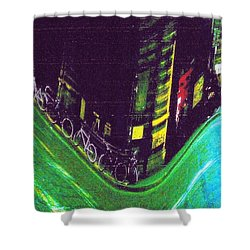 Driving By - Night Time In Bologna Shower Curtain