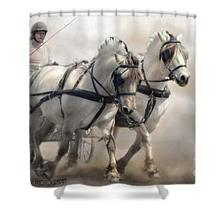 Driving Fjords Shower Curtain by Kathy Russell