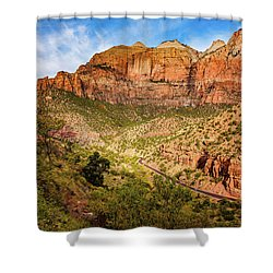Driving Into Zion Shower Curtain