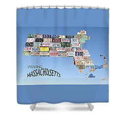 Driving Massachusetts Shower Curtain