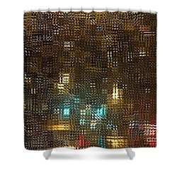 Driving Rain Shower Curtain by Sarah Loft