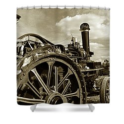 Driving The Engine Shower Curtain by Rob Hawkins