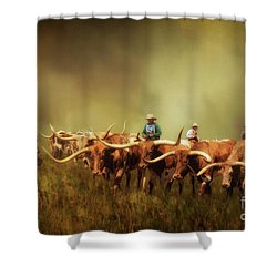 Driving The Herd Shower Curtain