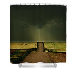 Driving Toward The Daylight Shower Curtain