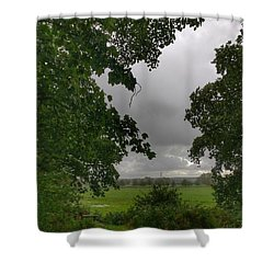 Drizzle And Rain Shower Curtain