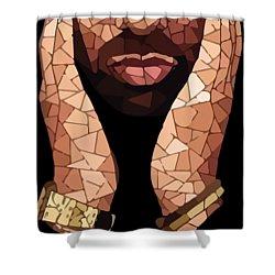 Drizzy Drake Rapper Mosaic Shower Curtain