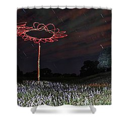 Drone Flowers Shower Curtain