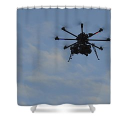 Drone Shower Curtain