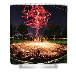 Drone Tree 1 Shower Curtain