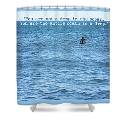 Drop In The Ocean Surfer  Shower Curtain by Terry DeLuco