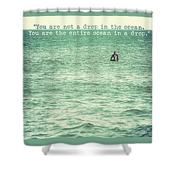 Drop In The Ocean Surfer Vintage Shower Curtain by Terry DeLuco