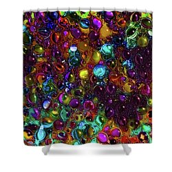 Droplet Abstract Shower Curtain by Stuart Turnbull