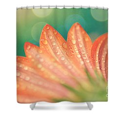 Droplet Dappled Blossom Shower Curtain