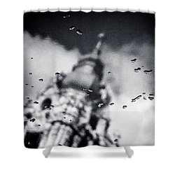 Droplets Shower Curtain by Dave Bowman