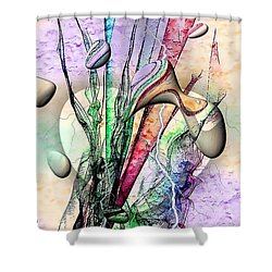 Shower Curtain featuring the digital art Drops Art By Nico Bielow by Nico Bielow