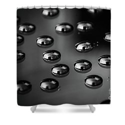 Drops Of Water - Macro - Black And White Shower Curtain
