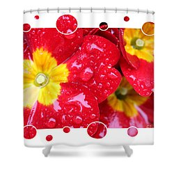 Drops Upon Raindrops 4 Shower Curtain by Carol Groenen