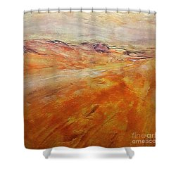 Shower Curtain featuring the painting Drought by Dragica  Micki Fortuna