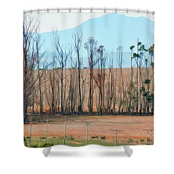 Drought-stricken South African Farmlands - 3 Of 3 Shower Curtain