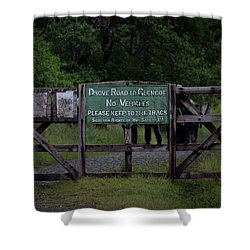 Shower Curtain featuring the photograph Drove Road To Glen Coe by RKAB Works