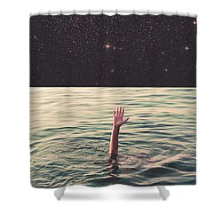 Drowned In Space Shower Curtain by Fran Rodriguez
