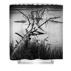 Shower Curtain featuring the photograph Drowning by Alan Raasch