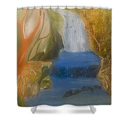 Drowning At 7 Conversations Series Shower Curtain