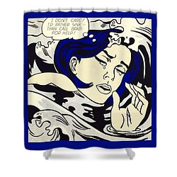 Drowning Girl - Aka Secret Hearts, I Don't Care Or I'd Rather Sink Shower Curtain