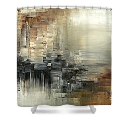 Shower Curtain featuring the painting Drowsy Murmers by Tatiana Iliina