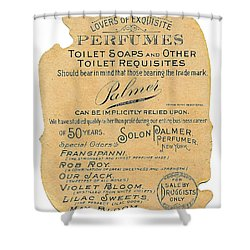 Shower Curtain featuring the photograph Druggists by ReInVintaged