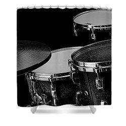 Drum Set Collection Shower Curtain